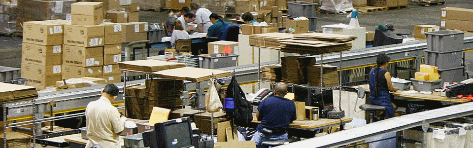 Photo of the AIB Warehouse Packing and Shipping Lines